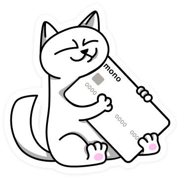 cat holds card